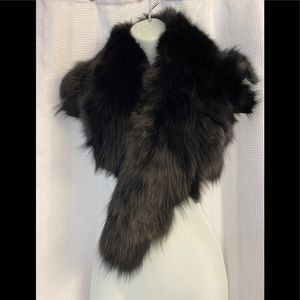 Stunning Real Black Fox Fur exceptional quality
